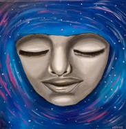 """Awake""   Acrylic on Canvas   10x10""   $75.00"