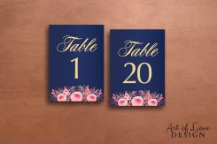 Printable Table Numbers
