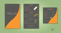 Flat Dinner and Drink Menu Design